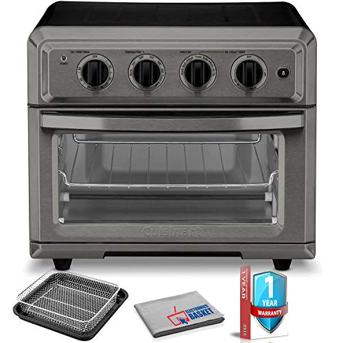TOA-60BKS Air Fryer Toaster Oven (Black Stainless) with Extra Warranty