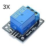 ILS - 3 pezzi 5V Relay 5-12V segnale TTL 1 Canale Alto Modulo A livello scheda di espansio...