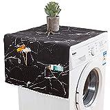 Migimi Funda a prueba de polvo para lavadora de 130 x 55 cm, protección contra el polvo para frigorífico, con bolsa de almacenamiento, cubierta para la lavadora