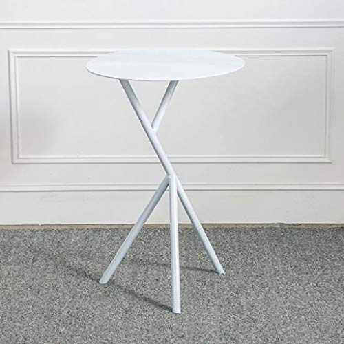Side Table Coffee Table End Table Side Table Iron Small End Table Round Tea Coffee Tables Simple Sofa Table Bedroom Living Room Balcony Waiting Area Reading Table ( Color : White , Size : 38*58cm )