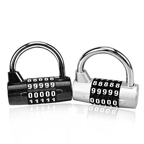 Candado de combinación Astarye 2 paquete con 5 dígitos suave Dial Re