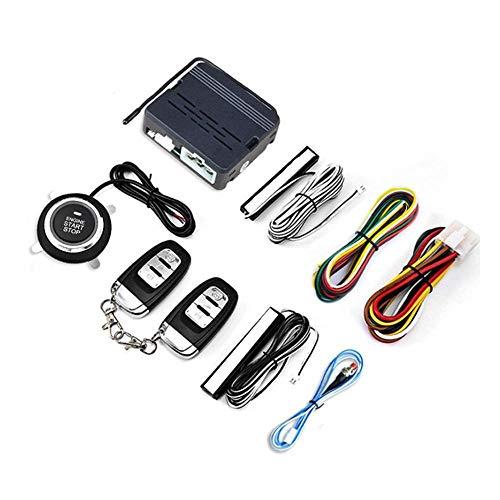 Z.L.F.J.P Alarma 9PCS Coche automático de Entrada sin Llave de Seguridad del Sistema de Empuje botón de Bloqueo automático de Arranque del Motor a Distancia Kit