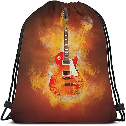 Guitarras Cool Design Hipster Style Rock N Roll Music Grunge Art Nylon Beach Bag para gimnasio Compras Deporte Yoga