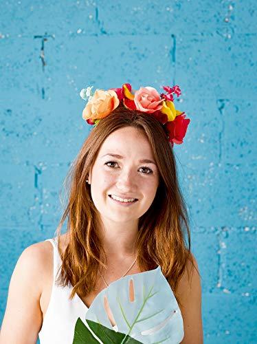 Talking Tables Cuban Fiesta; haarband met bloemen- en fruitversierde haarband voor festivals, verjaardagen en zomerfeesten, veelkleurig