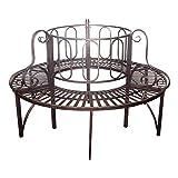 Design Toscano Roundabout Architectural Steel Garden Bench