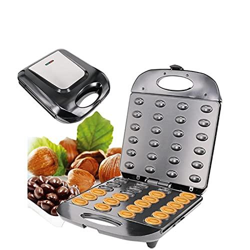 Electric Cake Maker, Automatic Mini Walnut Nut Waffle Bread Machine Sandwich Iron,Toaster Baking Breakfast Pan Oven