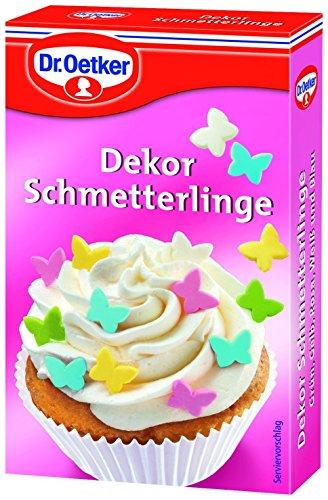 DEKOR SCHMETTERLINGE - Backdekoration (5 Farben / 60 gramm) ESSBAR