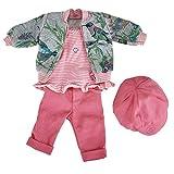 Käthe Kruse 0142810 Kindergarten Frühling Outfit 39-41 cm, pink