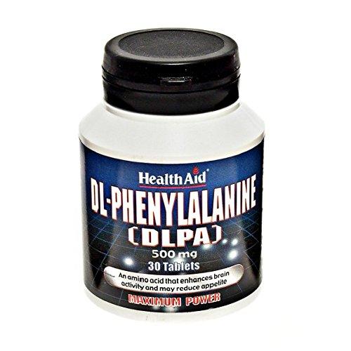 HealthAid DL-Phenylalanine (DLPA) 500mg 30 Tabletten