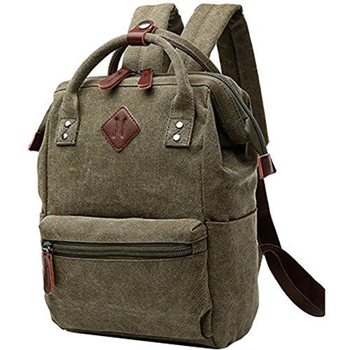 Berchirly Lightweight Canvas Backpack Laptop Bookbag Carrying Bags Totes Pack