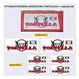 Adesivi Bici Agricoltura - TORTELLA-Kit 1- Kit Adesivi Stickers 06 Pezzi -Scegli SUBITO Colore- Bike Cycle pegatina cod.1017 (Kit TORTELLA)