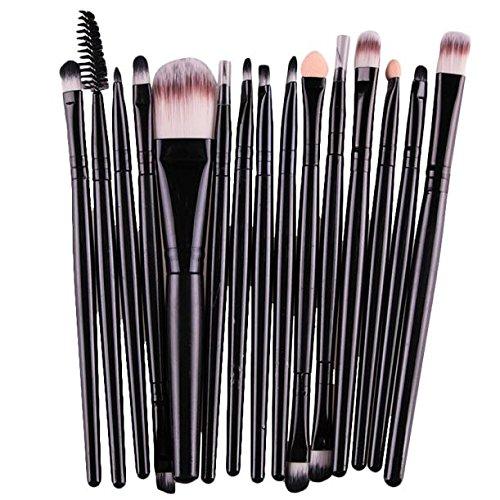 15 Pinceaux De Maquillage Noirs Marange Rawdah 15 pcs/Sets Eye Shadow Foundation Eyebrow Lip Brush Makeup Brushes Tool BK