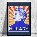 wzgsffs Hillary Clinton Poster Und Drucke Wandkunst Druck