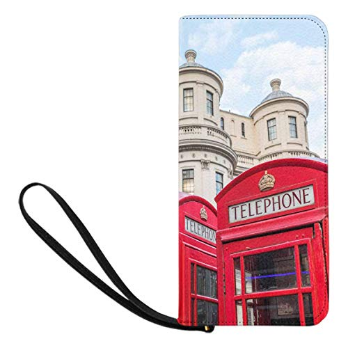 InterestPrint Women's Traditional Red Telephone Box in...