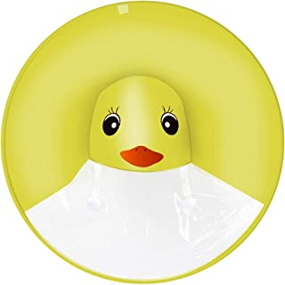 Supreona UFO Raincoat for Children Umbrella Hat Hands Free Waterproof Adorable Cartoon Duck Kids Raincoats