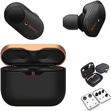 Sony WF-1000XM3 True Wireless Noise-Canceling Earbud Headphones (Black, USA Warranty) with Hardshell Travel/Storage case a...