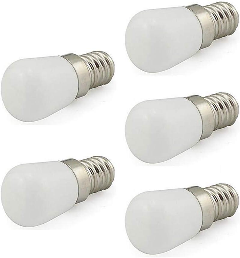 YSSMAO 5 unids/Lote LED máquina de Coser Bombilla E14 3W AC220V 360 GRUGO Ángulo LED Impermeable LED para refrigerador/Máquina de Coser/Torno