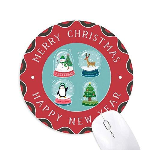 Frohe Weihnachten Schneemann Geschenkbaum Maus Pad Fröhliche Weihnachten Rundgummi
