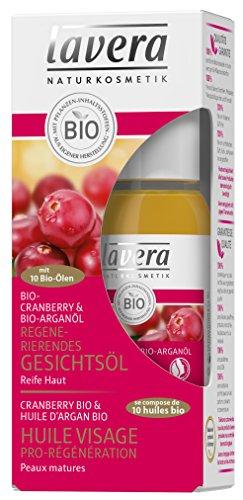 lavera Pro Régénération Huile pour Visage Cranberry Bio - Vegan - Cosmétiques naturels - Ingrédients végétaux bio - 100% naturel 30 ml