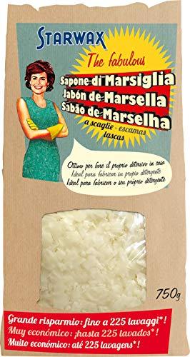 Starwax The Fabulous Jabón de Marsella en Escamas 750gramos - Limpiador Natural Multiusos. Desengrasa, Quitamanchas y Protege los Colores