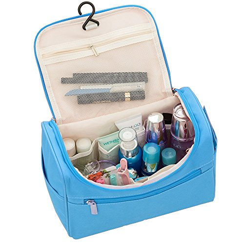 Toilettas Travel Kit toilettas cosmeticakoffer cosmetica make-up tas organizer cosmeticatasje voor dames en heren blauw
