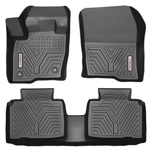 YITAMOTOR Floor Mats Compatible with 2015-2020 Ford Edge, Custom Fit Black TPE Floor Liners 1st & 2nd Row All-Weather Protection
