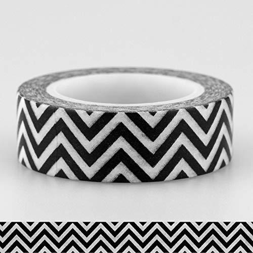 WATERMELON 15mm * 10M Decorativo Bianco e Nero Giapponese Washi Nastro Set Nastro Adesivo Fai da Te Scrapbooking Paper Photo Album Masking Tape (Color : 5)