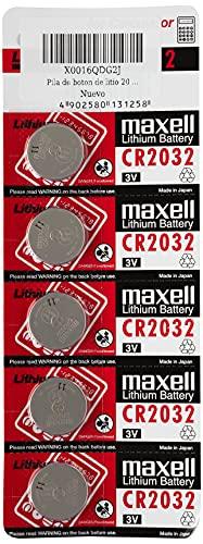 Maxell CR2032 - Batterie a bottone al litio, 3 V, 2 confezioni da 5