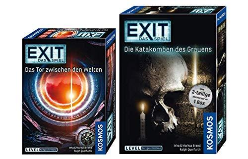 EXIT - Das Spiel: Das Tor zwischen den Welten + Die Katakomben des Grauens (Level: Fortgeschrittener), Escape Room Spiele