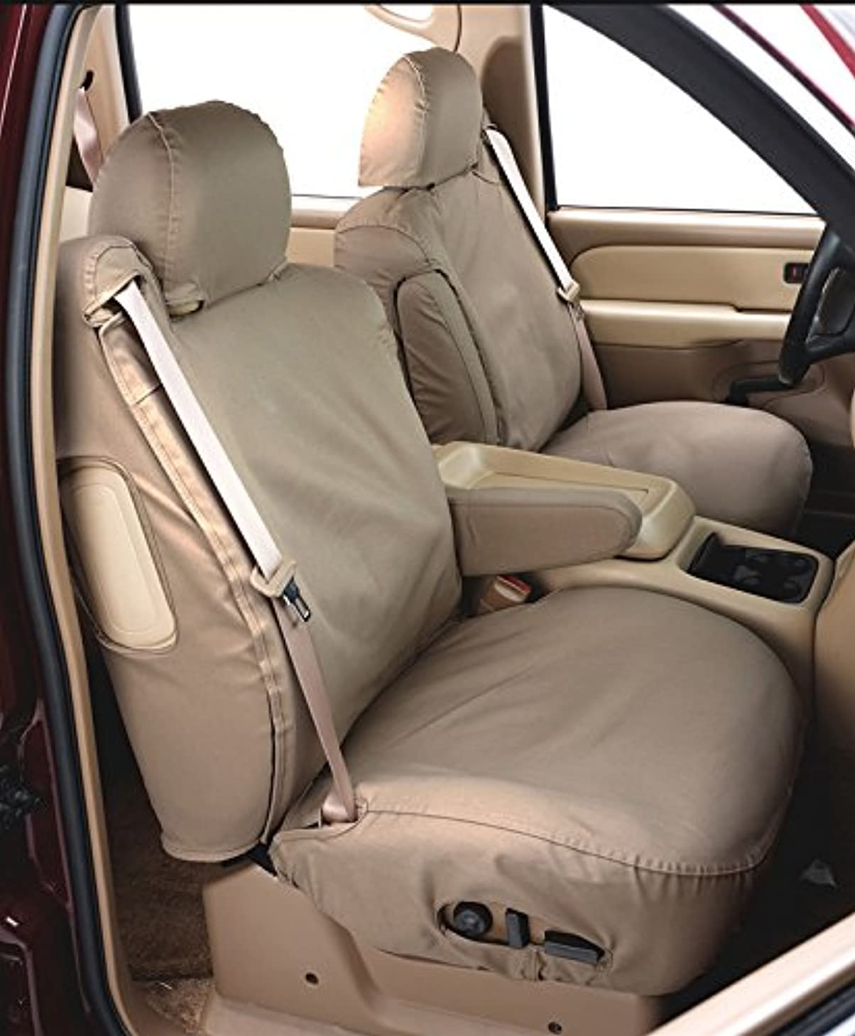 Covercraft SeatSaver Second Row Custom Fit Seat Cover for Select Jeep Grand Cherokee Models - Waterproof (Taupe)