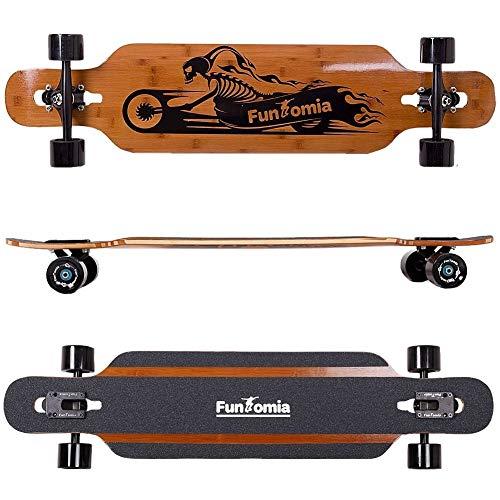 FunTomia Longboard aus Bambus und Fiberglas in 3 Flexstufen +T-Tool