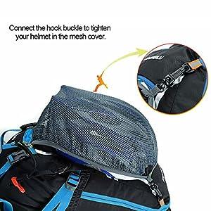 Lixada Mochila de Ciclismo Impermeable 18L Unisexo Respirable Ultraligero con Cubierta de Lluvia Mochila de Hombro Para Ciclismo Montañismo Viajes
