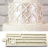 IBQ Molde Silicona 22 * 6.5cm Bordes de Perlas Alfombrilla 3D Molde de Perlas Decoración de Fondant Artesanía de azúcar Hornear K271