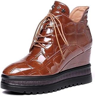Womens Snow Boots Inverno Allineato Pelliccia Caldo Stivaletti Esterna Antiscivolo Scarpe High Top Sneakers da Neve A Pied...