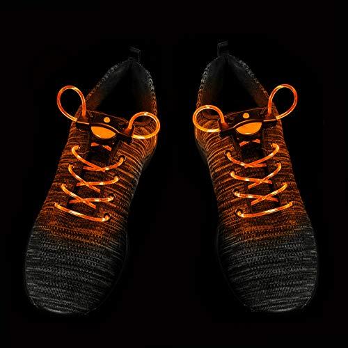 UltraByEasyPeasyStore 2 Paare Orange LED Schnürsenkel Leuchten Blitzende Faserglühschnüre Erwachsene Kinder Party Laufen Nacht Sicherheit Rave Hip Hop Stiefel Tanzschuhe