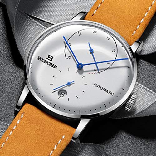 Uhr Herren Multi-Color Optional, Multi-Funktions-mechanische Bewegung, Qualität Beschichtete Gem Glas Fall B