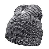 Sombrero de Invierno para Hombres Sombrero de Punto Mujeres Sombreros de Invierno para Mujeres Hombres Gorras de Punto En Blanco Casual Lana Cálida Gorro Plano
