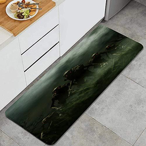 WOTAKA Alfombra de Cocina,Hombre del Saco una Criatura de una Pesadilla 3D,Alfombrilla de Cocina Antideslizante Gruesa(45*120cm