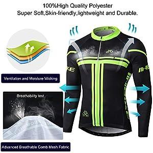 INBIKE Maillot Ciclismo Invierno Hombre 3D Acolchado Gel Ropa Térmica Ciclismo Camiseta Bicicleta+Culote Ciclismo(XL)