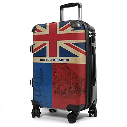 HAUPTSTADTKOFFER 57 Liter (ca. 65 x 42 x 24 cm) · Reisekoffer · Modell: STYLE · TSA Schloss · verschiedene Cover (England)
