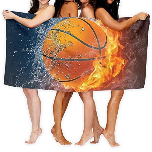 Toallas de playa, baloncesto nunca se detiene de gran tamaño de microfibra súper absorbente de personalidad toalla de baño toalla de playa toalla de 76 x 152 cm