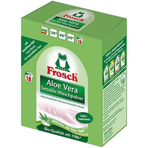 2 x Frosch Aloe Vera Color-detersivo in polvere 1,35 kg - delicato con Aloe Vera