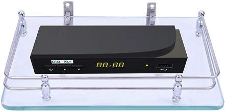 Plantex Glass Set Top Box Wall Shelf/Stand with Wall Brackets (12 X 9 Inch)