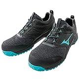 安全靴 ミズノ プロテクティブスニーカー F1GA1903 27.0 91.黒×ライトブルー×黒