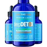 Deep Detox - Colon Intestinal Detoxify, Gut & Blood Cleanse + 100% Natural Vegan Fibers Supplement Targeted Synergy 14-in-1 Herbal Extract w/ Milk Thistle Chicory & More 3X Absorb Tincture Liquid