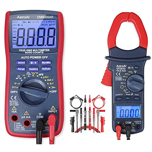 AstroAI Digital Multimeter & Clamp Meter & Test Leads Bundle