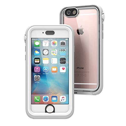 iPhone 6s Case, Waterproof, Shock Proof, Drop Proof by Catalyst for Apple iPhone 6s with High Touch Sensitivity ID (White & Mist Gray)