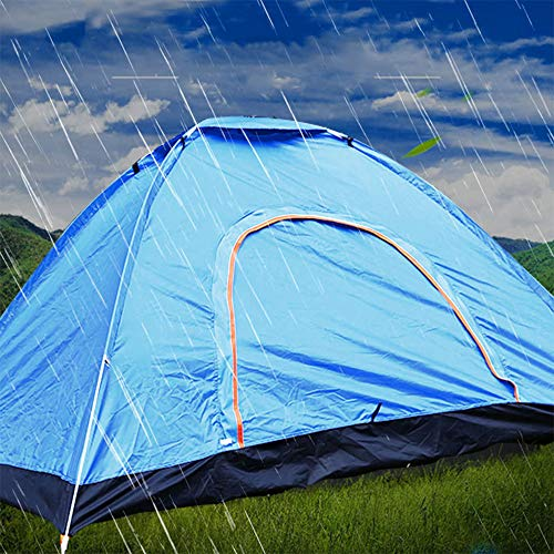 GXYD Tente Camping, Tente Portable Pop avec Une Corde Vent et Sac de Transport - Léger imperméable, pour Occasions Camping Randonnée Activités de Plein air - Bleu