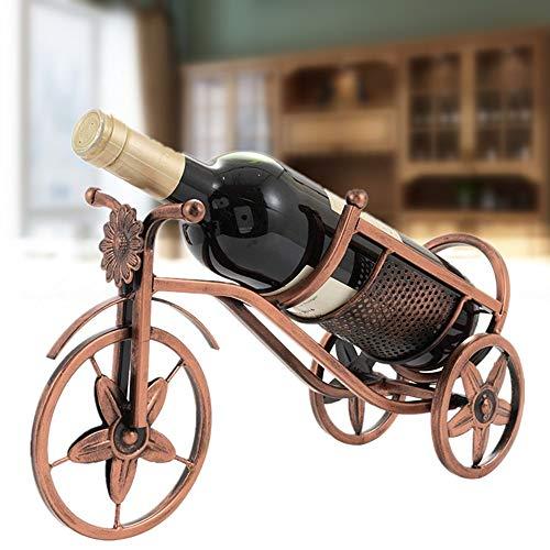 SOPRETY Weinhalter Weinständer aus Metall, Fahrrad-Motiv als Dekoration Aufbewahrung zum Wein, Geschenk