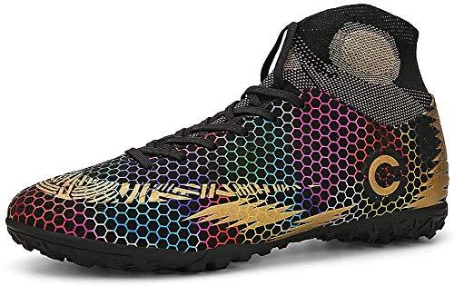 N /A Moldeado de fútbol Botas, Botas de fútbol de Oro de Menores/Zapatos de fútbol al Aire Libre Gils Formación Zapatillas de Deporte Unisex Botas de fútbol Breatheable Botines de fútbol-Top,E,39